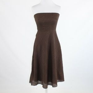 Brown J. CREW A-line dress 2